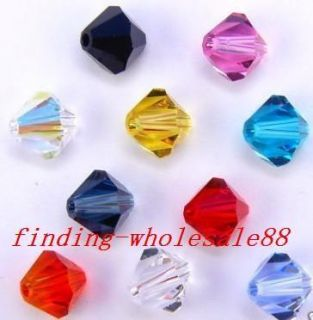 200pcs high quality faced glass crystal beads 4mm