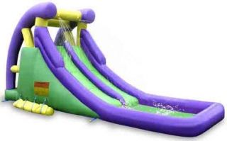 Bounceland Inflatable Bounce House Double Water Slide