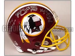 John Riggins Mark Rypien Doug Williams Auto Redskins Authentic Game