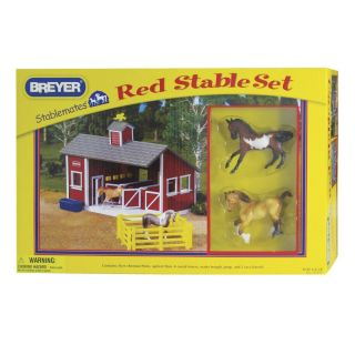 Breyer Horses Stablemates Red Stable Set 59197 Pony Care Set 5411 Gift