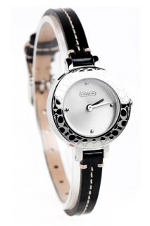 Coach  ladies Bridgit Black Leather Strap Watch 14501190