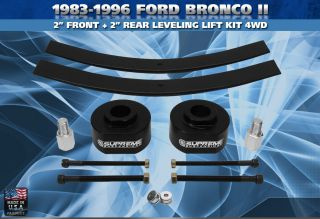 1983 1996 Ford Bronco II 2 Front + 2 Rear Lift Kit 4WD PRO