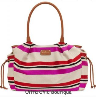 Kate Spade Stevie Baby Bag Oak Island Collection Stripe Diaper Tote