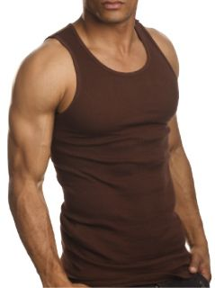 Top Quality 100 Premium Cotton Mens A Shirt Wife Beater Ribbed Tank