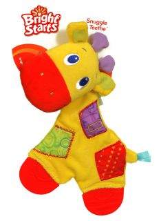 New Bright Starts Snuggle And Teethe Giraffe Babys Toys Yellow