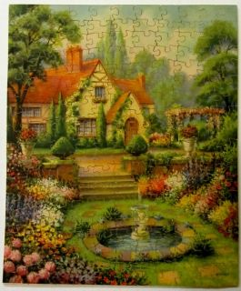"30s Vintage Wooden Jigsaw Puzzle – Star   ""Dream Garden"