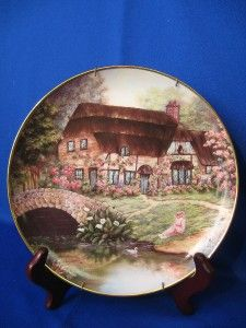 Collector Plate Cottage at Brookside Franklin Mint 8 5