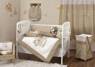 New Baby Girl Boy Bunny and Ted Crib Bedding Sets 4 PC
