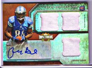 RYAN BROYLES 2012 TOPPS TRIPLE THREADS AUTO AUTOGRAPH JERSEY RC