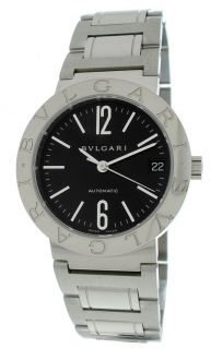 Bulgari Stainless Steel Quartz Black Watch BB33SS Auto