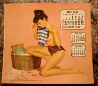 Esquire Pin Up Girls Desk Calendar Pages 11 Months Brule Nice
