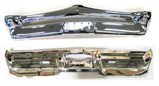 67 GTO Front and Rear Bumper Set Triple Chrome Plated New