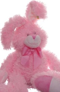 Bunny Stuffed Animal Girls Toy Pink Rabbit Soft Cuddly Baby Shower