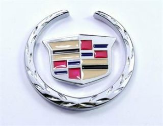Side Trunk Badge Sticker Emblem Shield for Cadillac XTS SRX XLR
