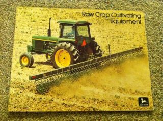 vintage JOHN DEERE tractor ROW CROP CULTIVATING EQUIPMENT brochure