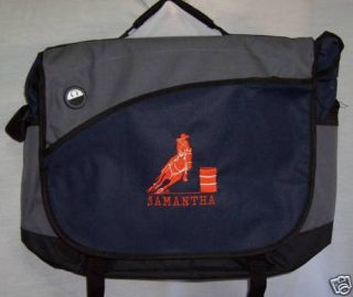 Barrel Racing Racer Laptop Bag Horse Rodeo Western Navy