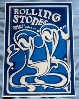 Stones Concert Poster Coventry 1971 The Good Bye Britain Tour