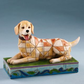 Shore Heartwood Creek Lucky Yellow Lab Labrador Retriever Dog Figurine