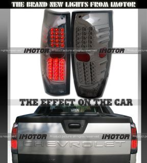 02 06 Avalanche Pickup LED Tail Lights Lamps Smoke