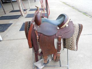 Courts Sadderly Barrel Racing Saddle Sharon Camarillo