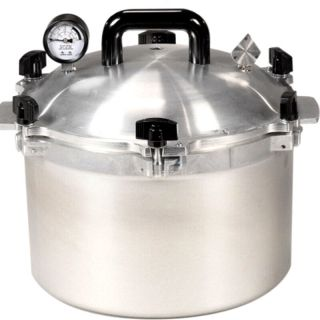 New Pressure Cooker Canner Heavy Cast Aluminum 10 Pint 7 Quart All