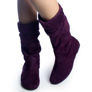 Dress Slouch Flat Designer Womens Mid Calf Boots Size 8 5
