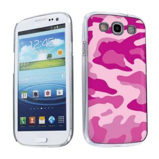 Pink Camouflage Snap on Hard Plastic Case Cover Samsung Galaxy S3 s