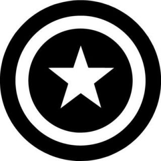 Captain America Shield Vinyl Sticker Decal Avengers Choose Size and