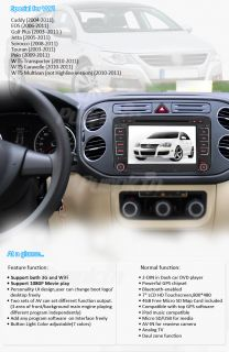 In Dash Car GPS DVD Stereo iPod Bluetooth 3G WiFi Bluetooth F VW Golf