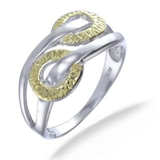 18K Yellow Gold Plated Ring In Sterling Silver (Available in Sizes 5