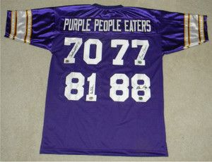 PEOPLE EATERS SIGNED AUTOGRAPHED MINNESOTA VIKINGS JERSEY CARL ELLER 3