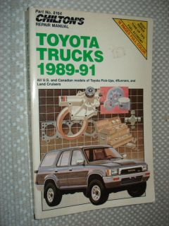 1989 1991 TOYOTA TRUCK SERVICE MANUAL SHOP BOOK CHILTONS 90 4RUNNER