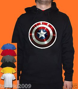 Captain America Shield Hoodie Unisex All Sizes Colours Available
