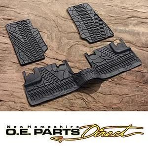 Jeep Wrangler Unlimited 4 Door Mopar Rubber Slush Floor Mats