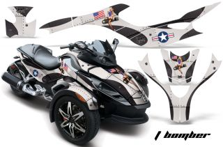 AMR Racing Graphic Kit Can Am BRP Canam Spyder Parts TS