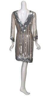 Candela Sparkling Silk Chiffon Sequin Party Dress 8 New