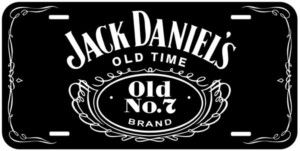 Black Jack Daniels Aluminum Novelty Car Tag License Plate
