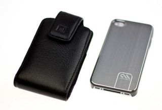 Case mate Barely There Brushed Aluminum Case + CASE123 holster for