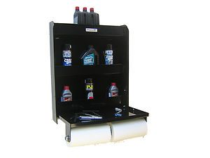 Work Station Storage Shop Cabinet Race Car Trailer Shelf Black