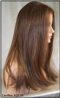 Brown Auburn Human Hair Blend Lace Front Wig Iron Safe Heat OK