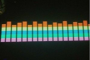 Sound Music Activated Car Sticker Equalizer Light Glow Flash LED
