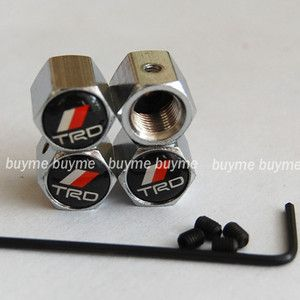 Car Tyre Tire Valve Stems Caps Air Dust Covers Anti Theft Locking