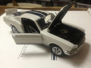 Carroll Shelby Signed Signature Franklin Mint White Blue GT350 Mustang