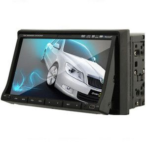 HD 800 480 Double DIN Touch Screen Car Radio DVD Player Bluetooth