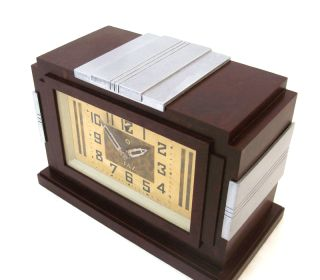 French Art Deco 1930 Stunning Jaz 8 Days Bakelite Desk Clock Power