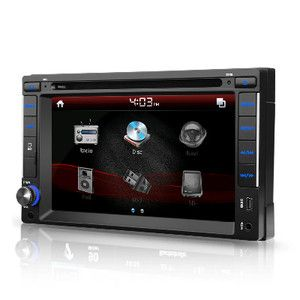 Double DIN Car CD DVD Player GPS Navigation 6 2 LCD Bluetooth RDS