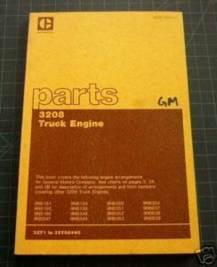 Cat Caterpillar 3208 Truck Engine Parts Manual Book GM