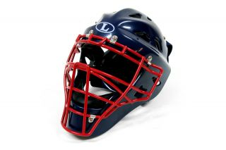 Louisville Slugger Omaha Catchers Gear Helmet Youth Navy Scarlet Red