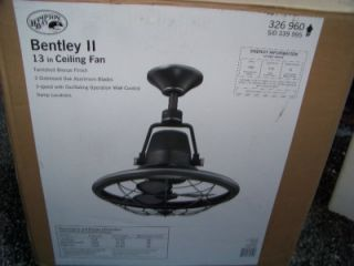 Bentley II 13 in. Indoor/Outdoor Oscillating Ceiling fan w/ control