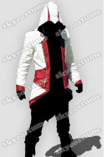 Assassin`s Creed III Conner Kenway Casual Red Jacket Cosplay Costume